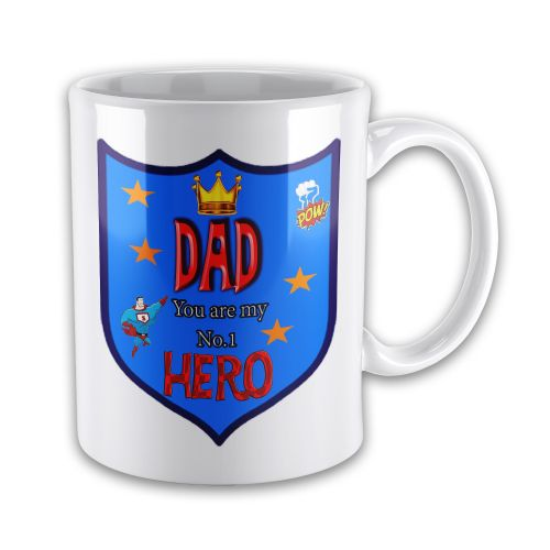 DAD You Are My Number 1 Hero Novelty Gift Mug